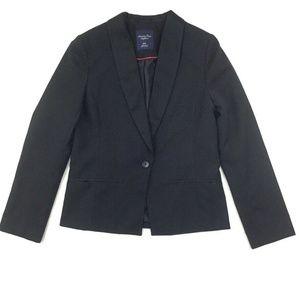 American Eagle Single Button Blazer Women M Black